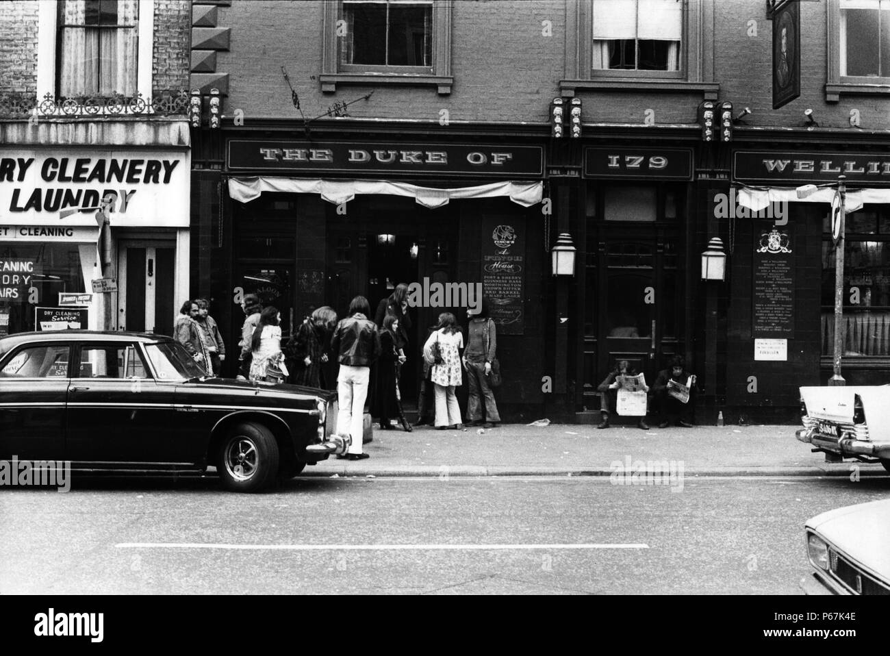 Duke of wellington pub 1970's - Stock Image