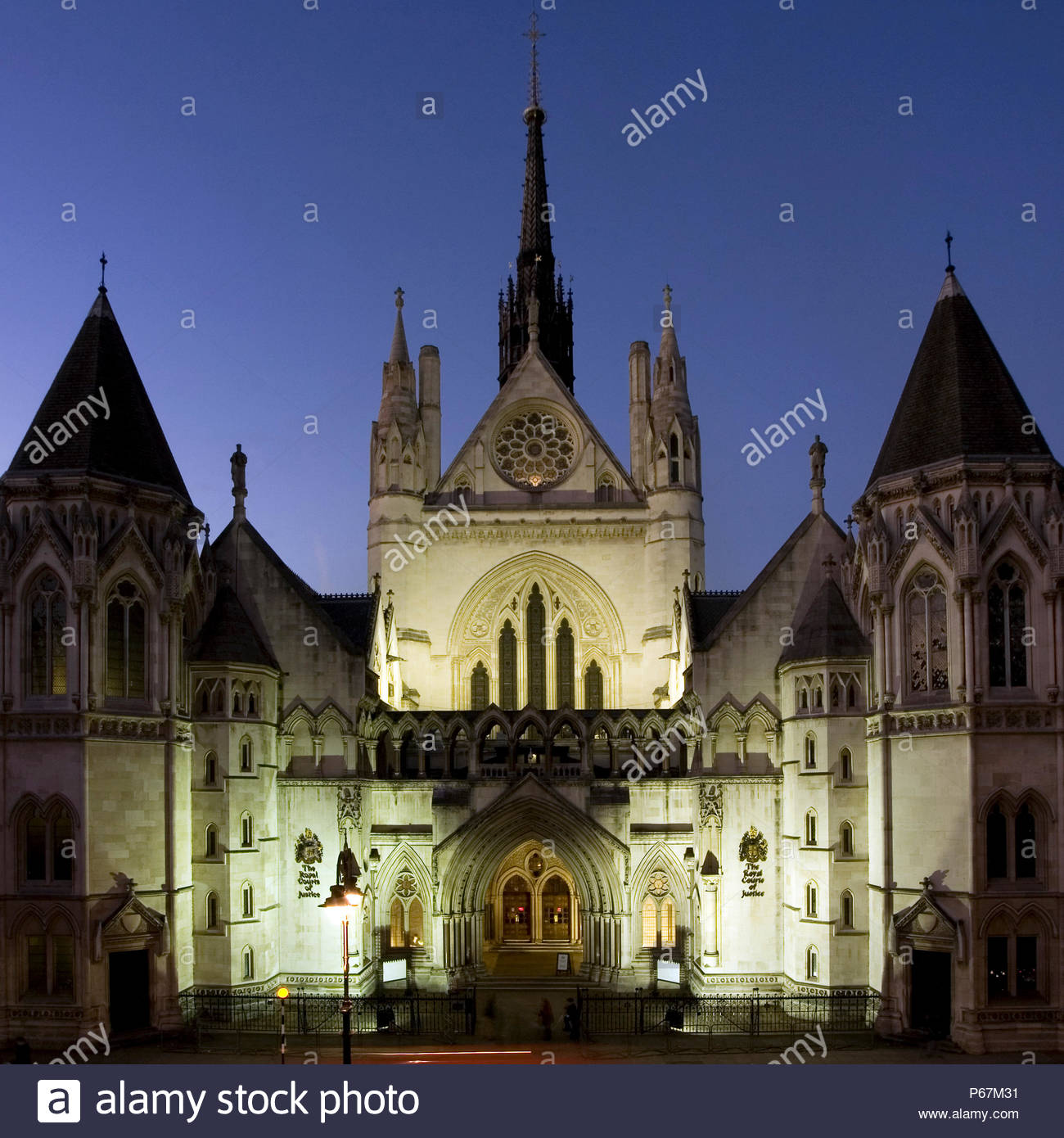Royal Courts of Justice, George Edmund Street, London, UK Stock Photo