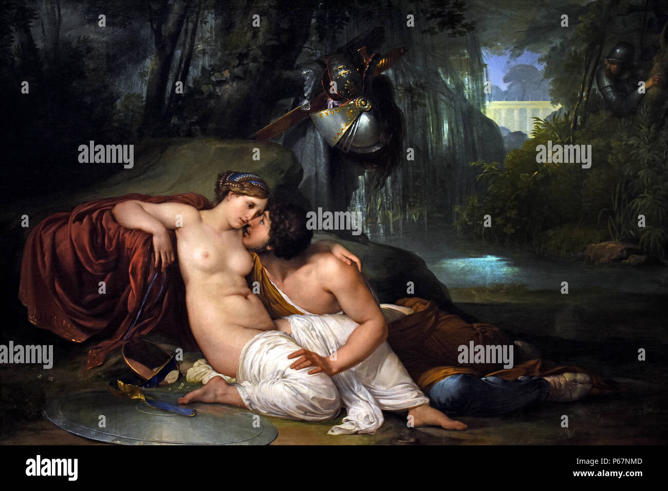 Rinaldo and Armida 1812  by Francesco Hayez  1791- 1882 Italy, Italian ( The story of Armida, a Saracen sorceress and Rinaldo, a soldier in the First Crusade, was created by the Italian poet Torquato Tasso. ) - Stock Image