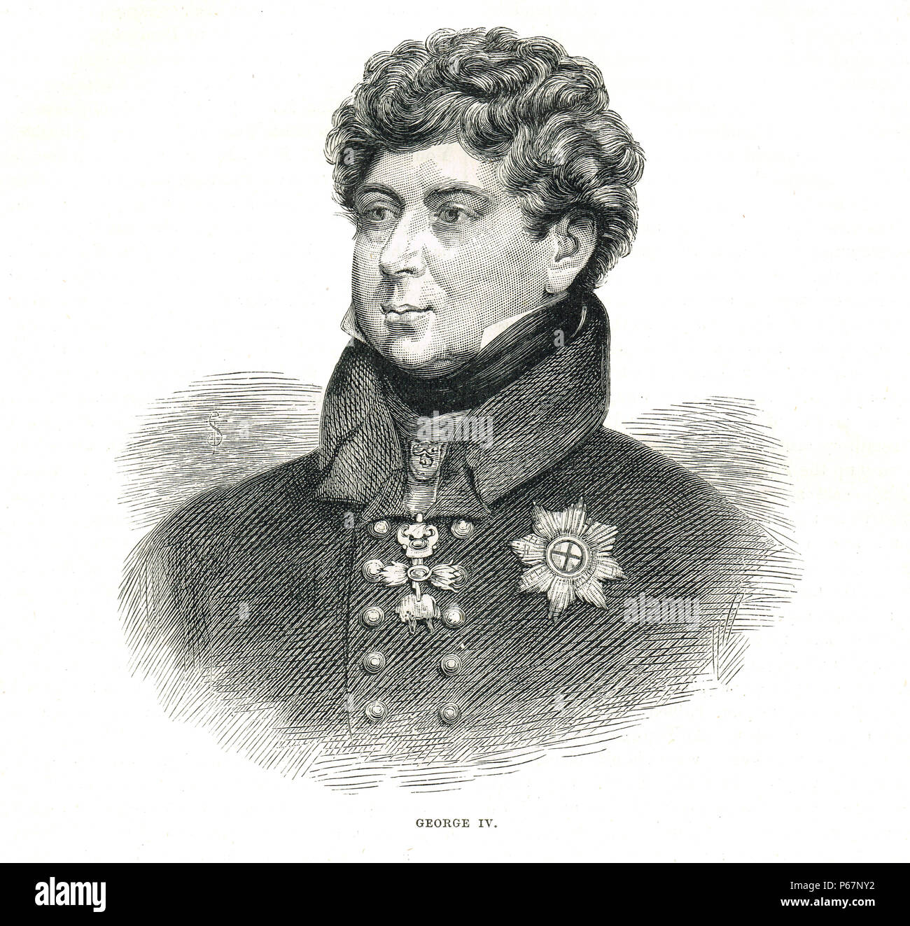 King George IV of the United Kingdom of Great Britain and Ireland, 1762-1830, reigned 1820-1830 - Stock Image