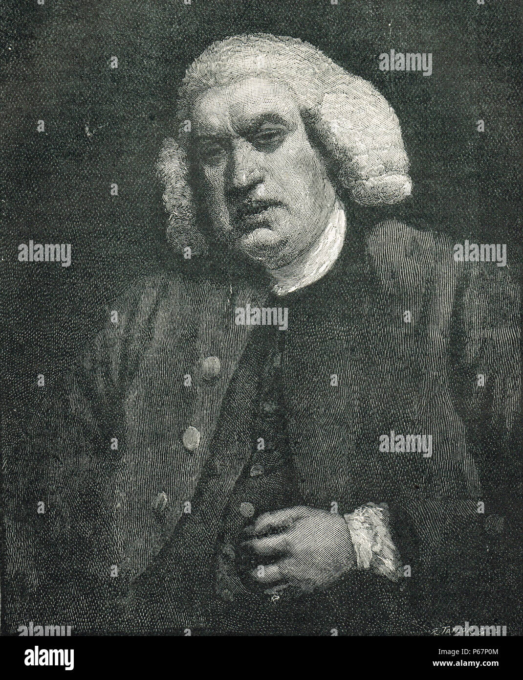Dr Samuel Johnson, 1709-1784, poet, essayist, moralist, literary critic, biographer, editor, lexicographer - Stock Image
