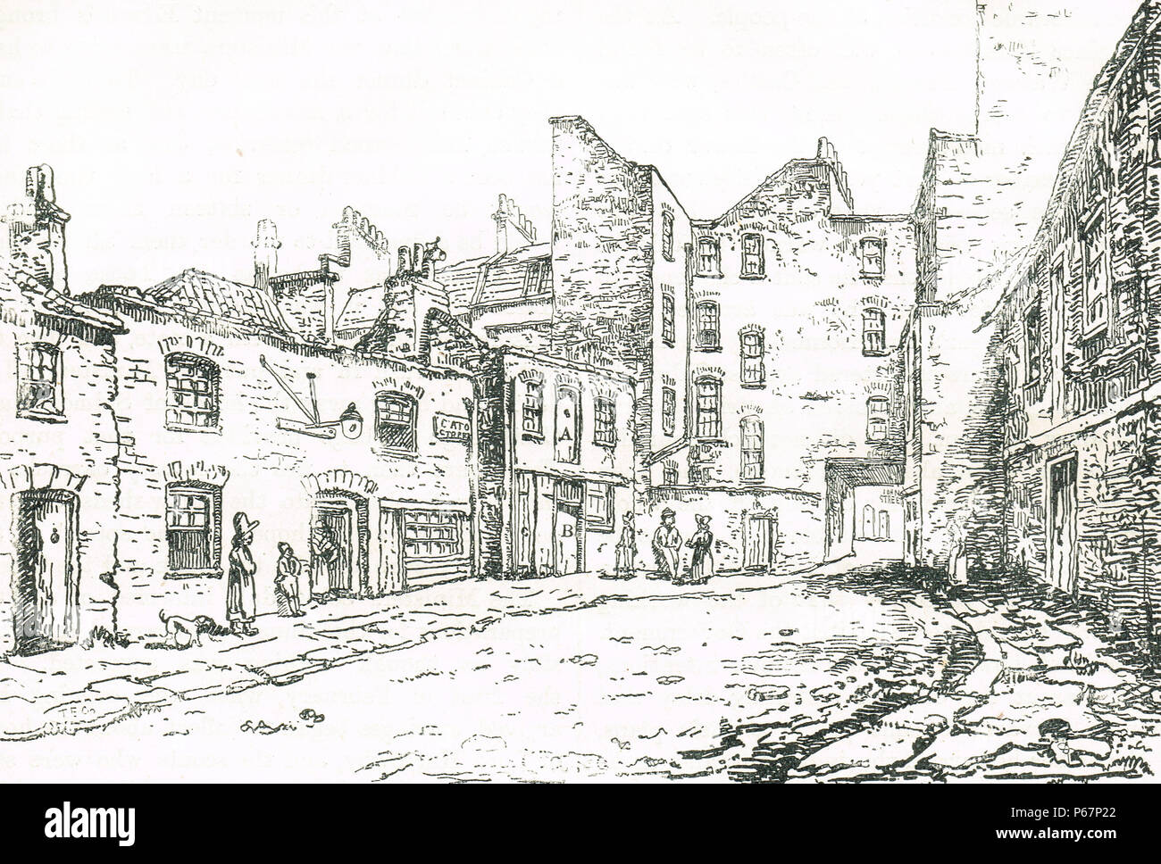 A view of the stable in Cato Street where the Cato St conspirators were arrested.  The Cato Street Conspiracy, an attempt to murder Prime Minister Lord Liverpool, and all the British cabinet in 1820 - Stock Image