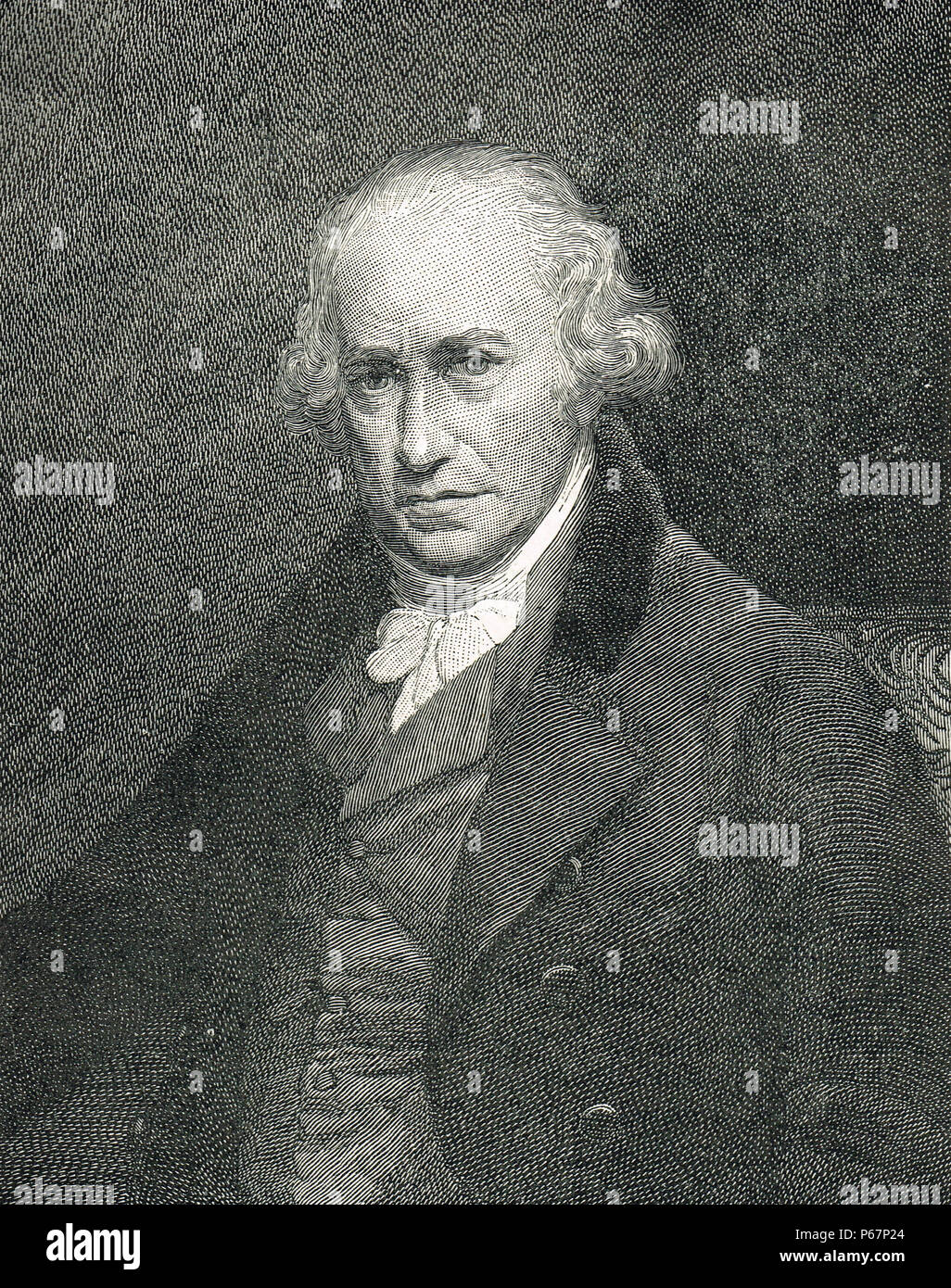 James Watt, Scottish inventor, mechanical engineer, and chemist - Stock Image