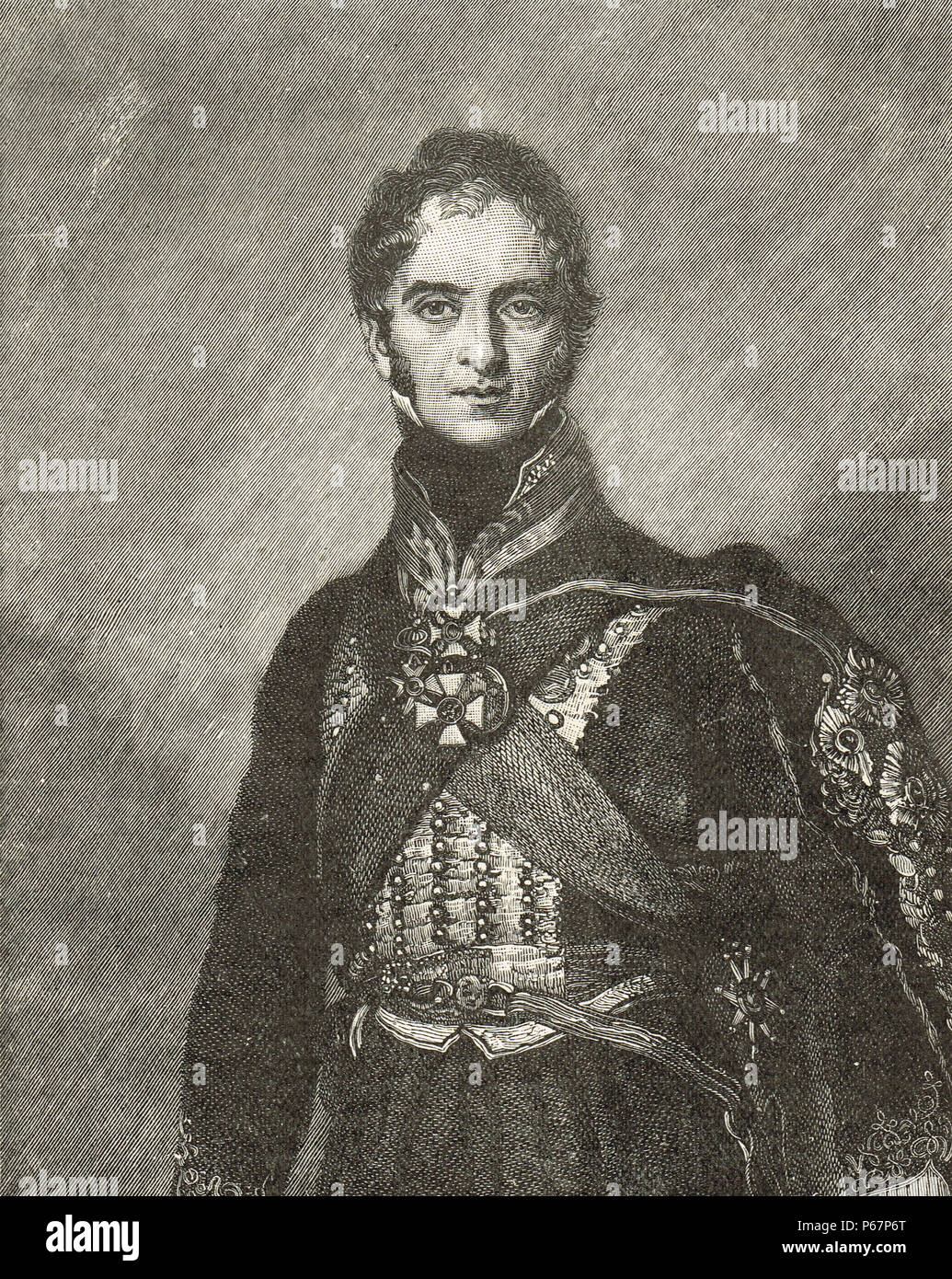 Field Marshal Henry William Paget, 1st Marquess of Anglesey - Stock Image