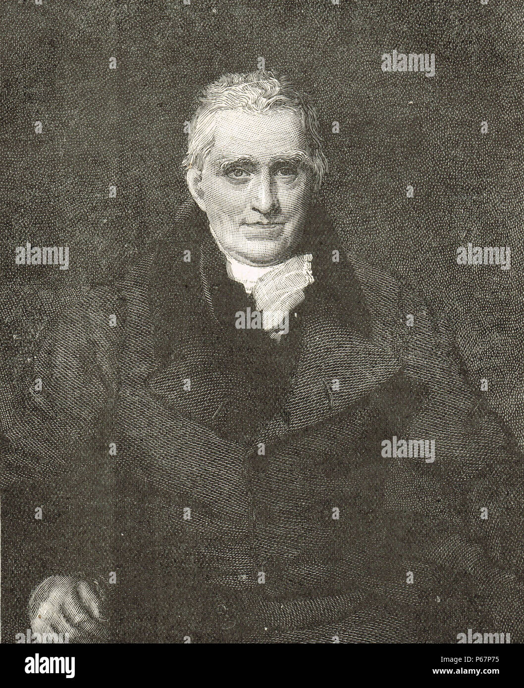 John Scott, 1st Earl of Eldon, British barrister and politician, resigned in protest as Lord Chancellor of Great Britain, against Catholic Emancipation - Stock Image