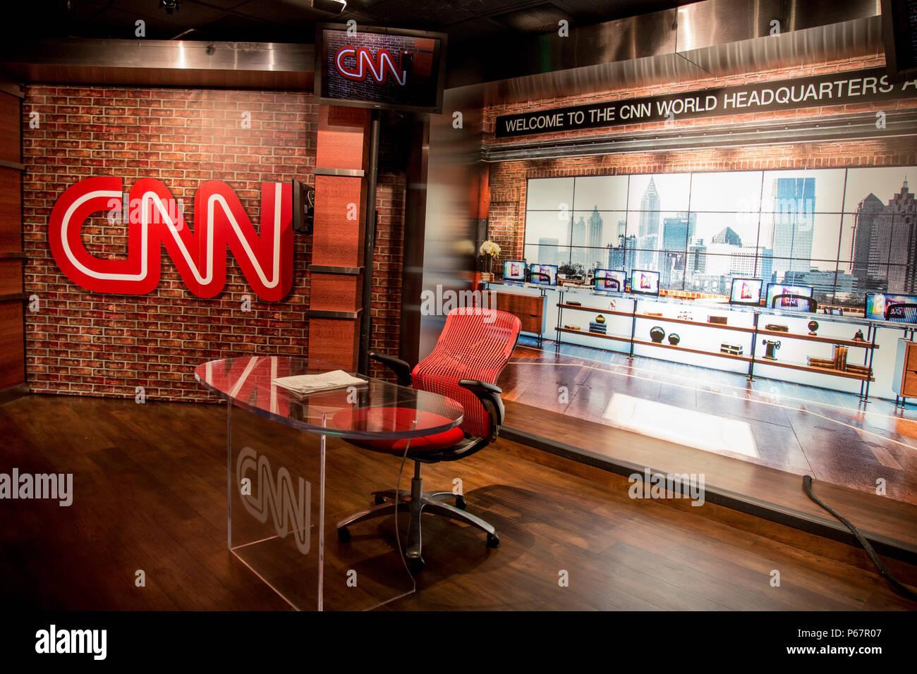 CNN tour in Atlanta Georgia - Stock Image