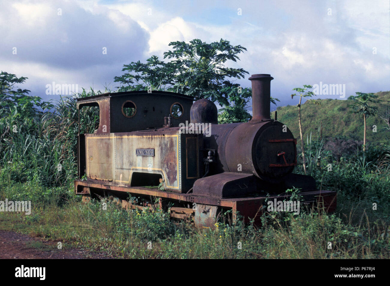 Nsuta Manganese in Ghana once operated these 2'6'' gauge 0-6-0Ts built by Bagnall of Stafford as their No.2413 of 1930. Monday 10 June 1985. - Stock Image