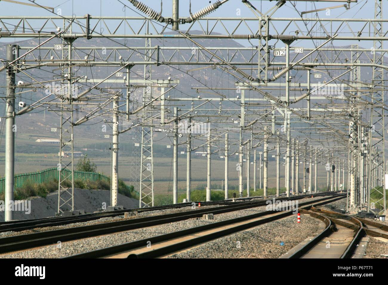 Qinhuangdoa Ð Jinzhou line China Railways. September 2005. - Stock Image