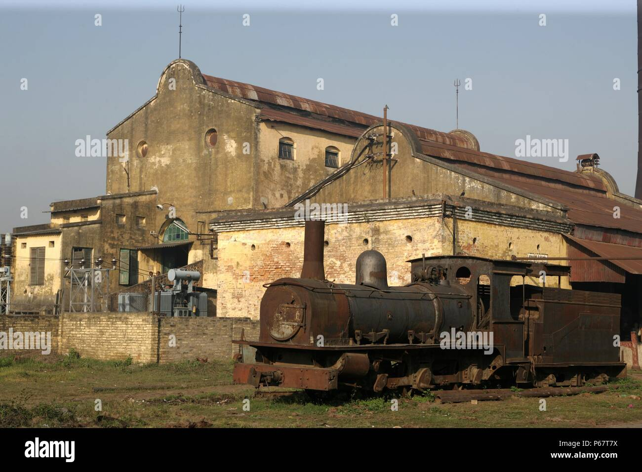 Rameshwara Jute Mill in Bihar operates this metre gauge F Class built by Sharpe Stewart of Glasgow as their number 4322 of 1897. March 2007. - Stock Image