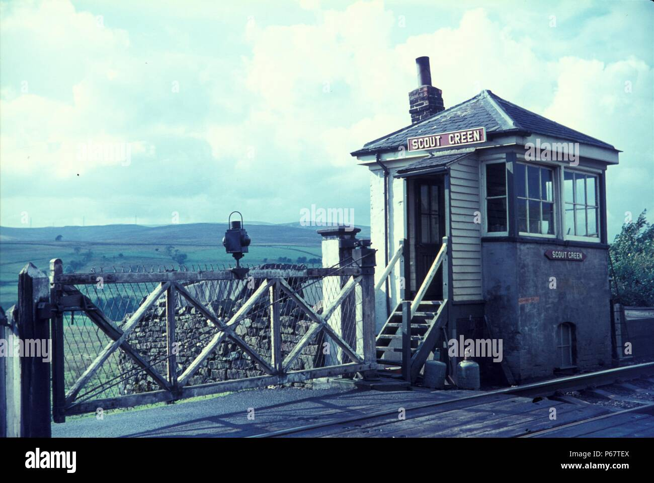 Scout Green crossing on the legendary Shap Bank in Cumbria at the close of the steam age in Britain. 1967. - Stock Image