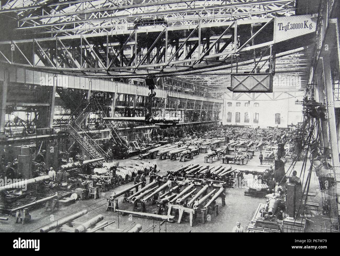 Krupps armaments factory in Germany during in the first world war - Stock Image