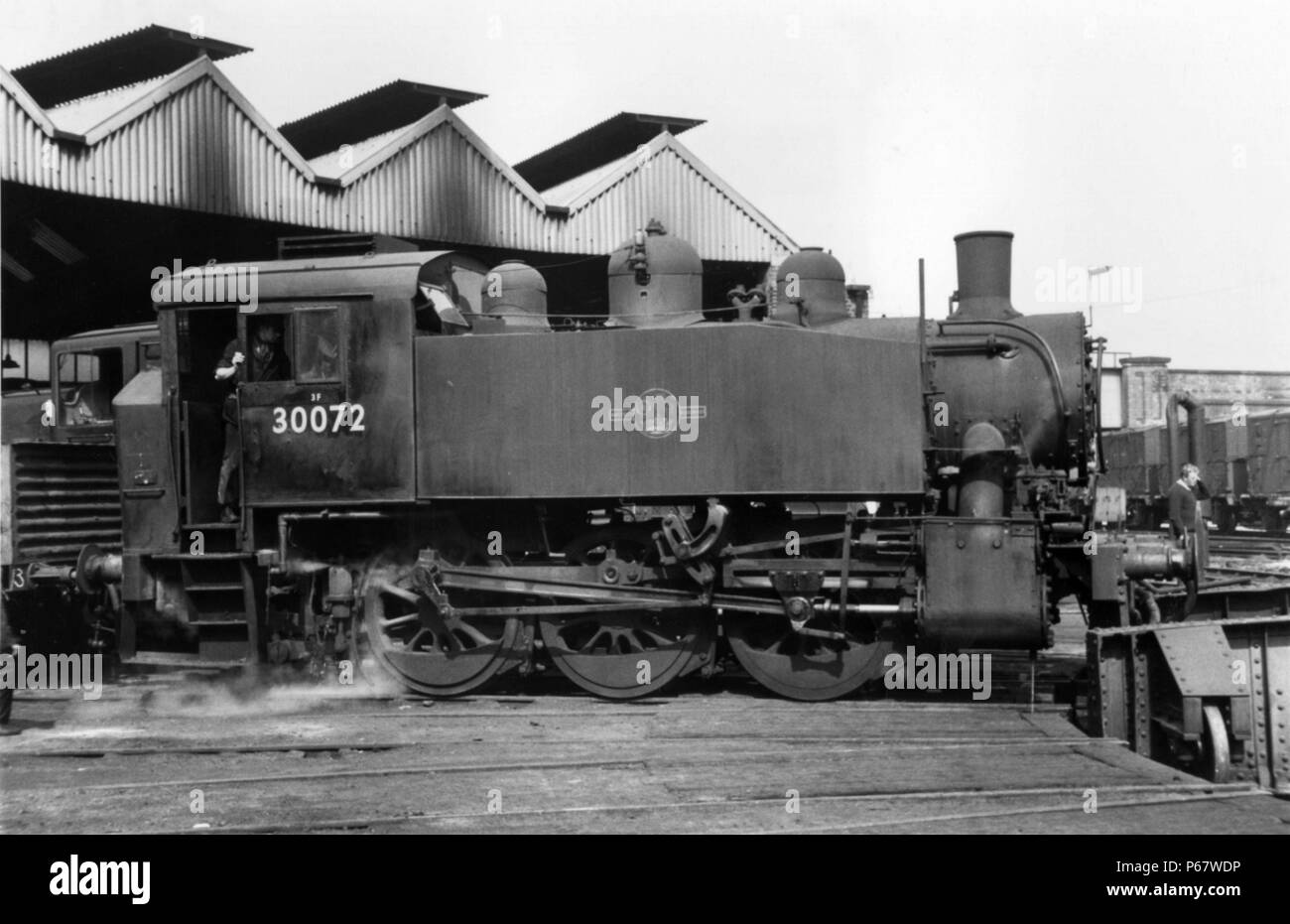 The Guildford shed pilot in the form of ex United States Army Transportation Corps 0-6-0T No 30072  originally allocated to Southampton Docks. - Stock Image