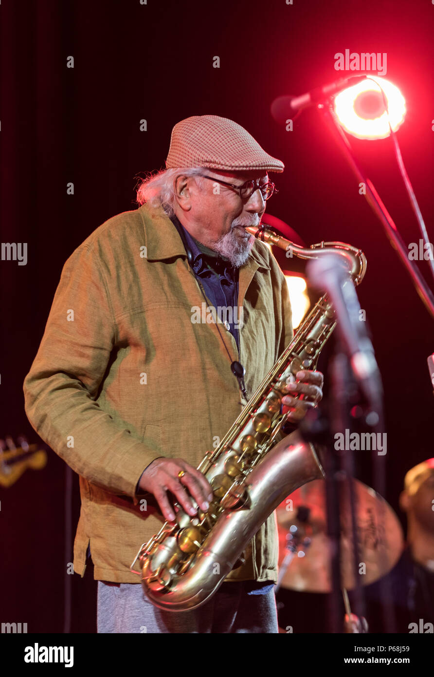 Krakow, Poland - June 28, 2018: Charles Lloyd & The Marvels and Bill Frisell live on stage of Kijow.Centre at the Summer Jazz Festival in Krakow. Poland Credit: Wieslaw Jarek/Alamy Live News Stock Photo