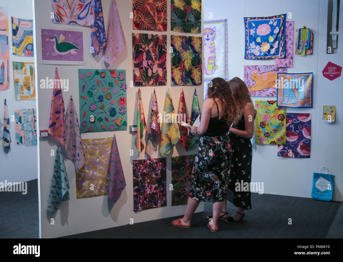 London UK 29 June 2018 Business Design center Islington New Designers. New Designers  the UK's leading graduate design show and the most important event for emerging designers. This is one  exhibition that continues to be a highly respected and successful platform for bringing new design talent and commerce together. Credit: Paul Quezada-Neiman/Alamy Live News - Stock Image
