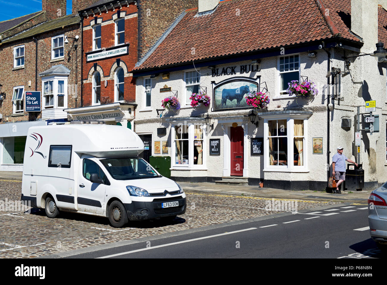 Romahome 25, small camper van, parked in Thirsk, North Yorkshire, England UK - Stock Image