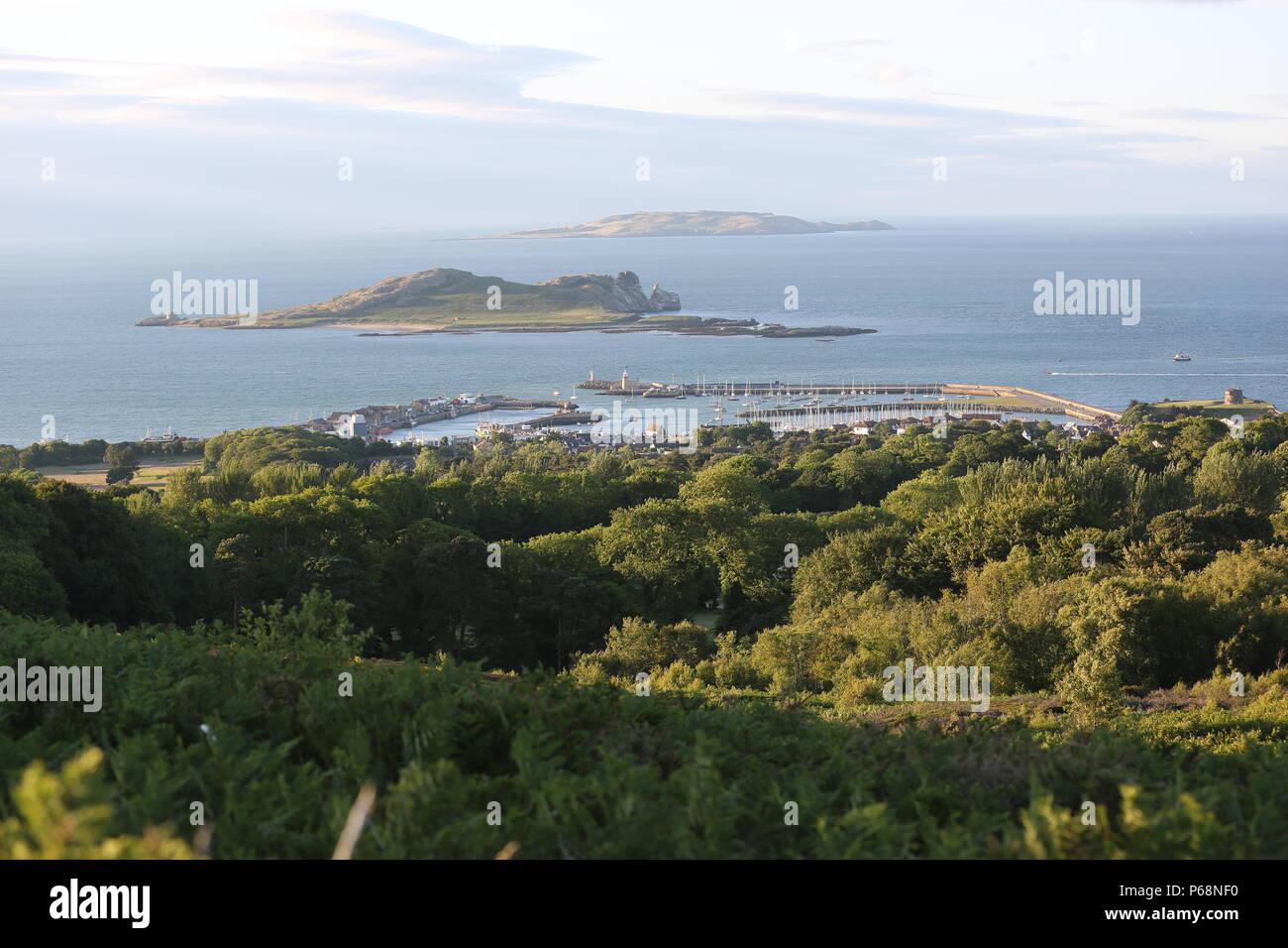 View of Howth harbor from Shielmartin hill. Co. Dublin - Stock Image