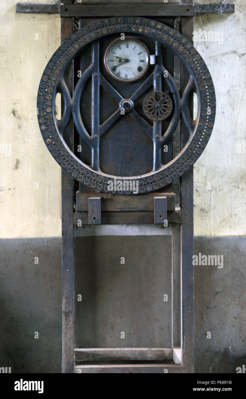Vintage clock Ghana Railways. - Stock Image