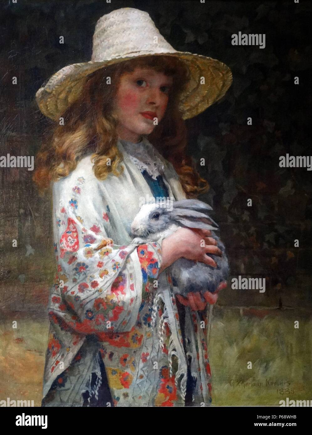 Her First Love' by George Sheridan Knowles (1863-1931) - Stock Image
