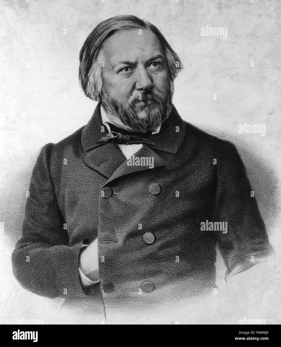 Mikhail Ivanovich Glinka (1804 – February 15 1857) first Russian composer to gain wide recognition within his own country - Stock Image