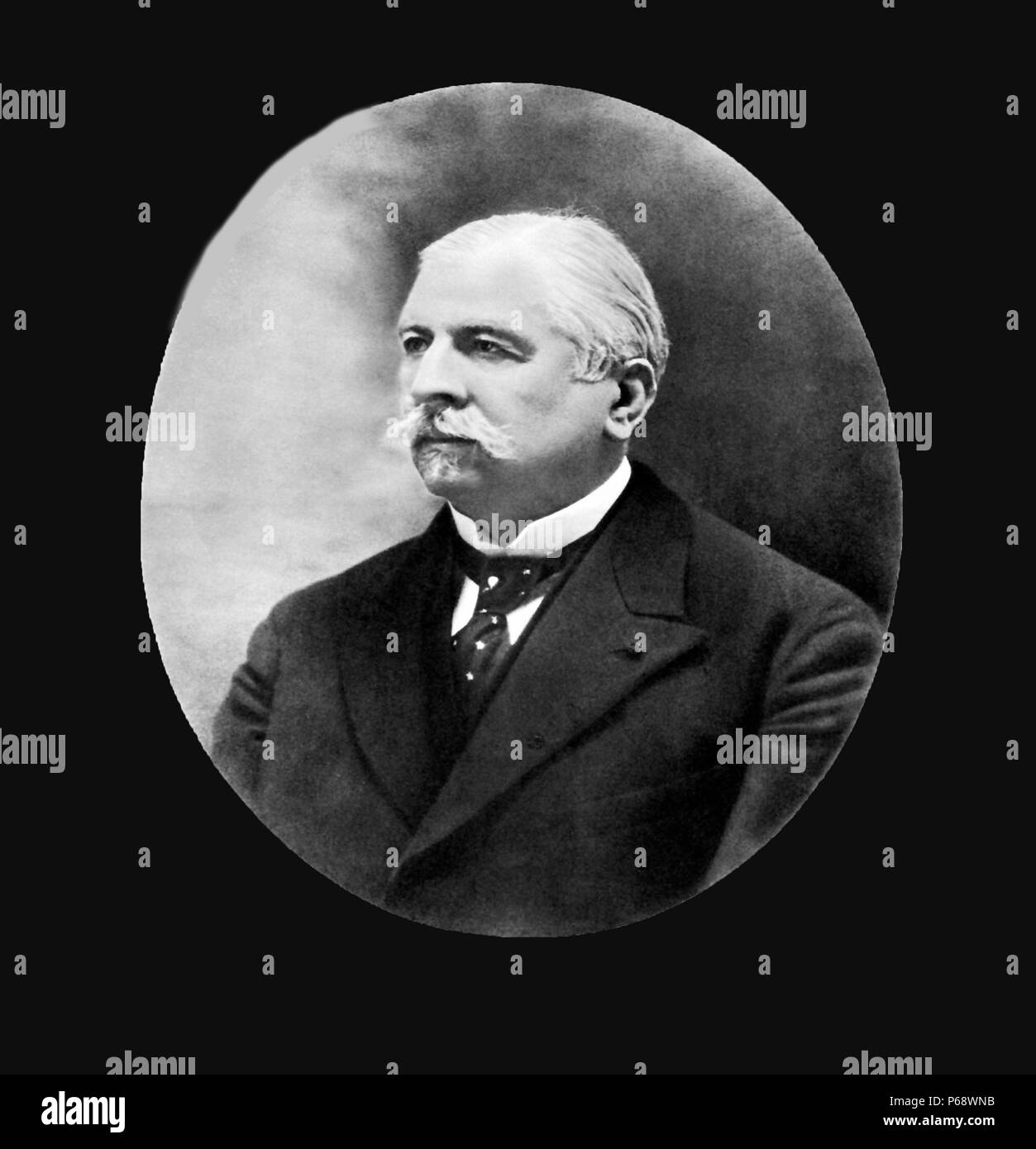 Joseph Babinski (1857 – 1932) French neurologist of Polish descent. He is best known for his 1896 description of the Babinski sign, a pathological plantar reflex indicative of corticospinal tract damage. - Stock Image
