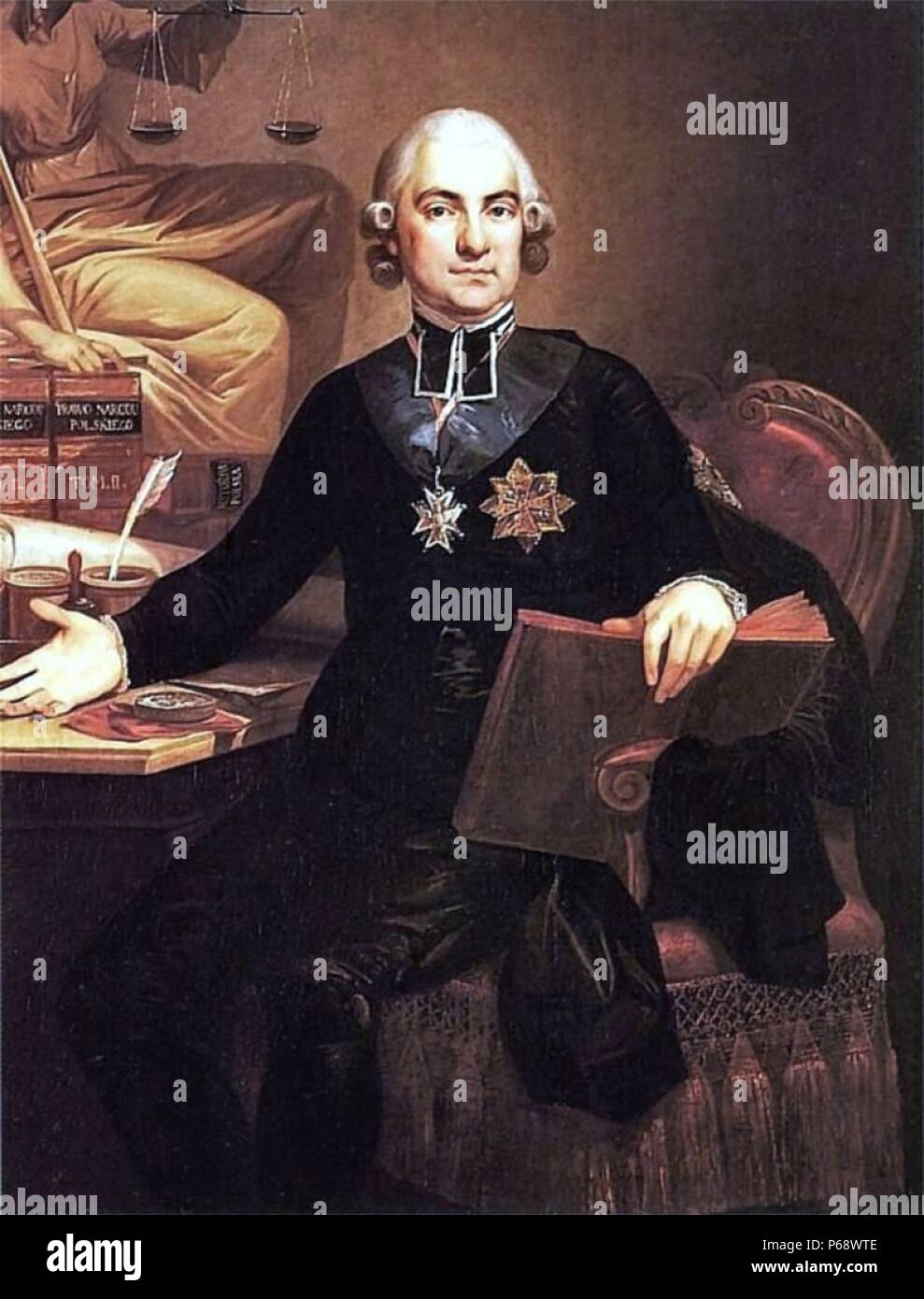 Hugo Stumberg Ko???taj (1750 – 1812) Polish Roman Catholic priest, social and political activist, historian and philosopher. one of the most prominent figures of the Enlightenment in Poland. - Stock Image