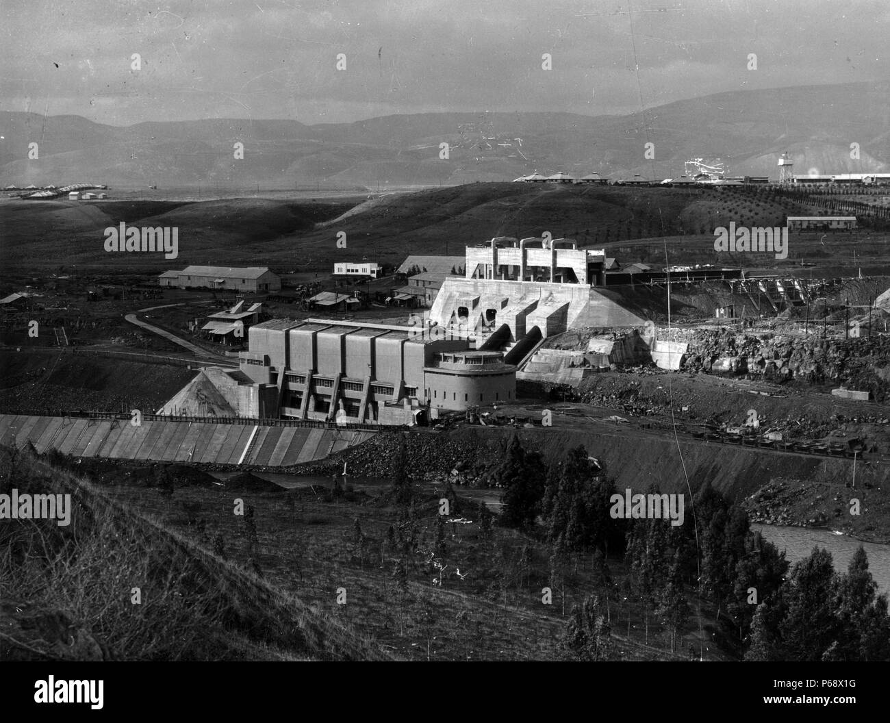 The Palestine Electric Corporation was founded by Pinhas Rutenberg in 1923. After he experienced some difficulty in launching his project he managed to secure support from the then Colonial Secretary Winston Churchill. - Stock Image