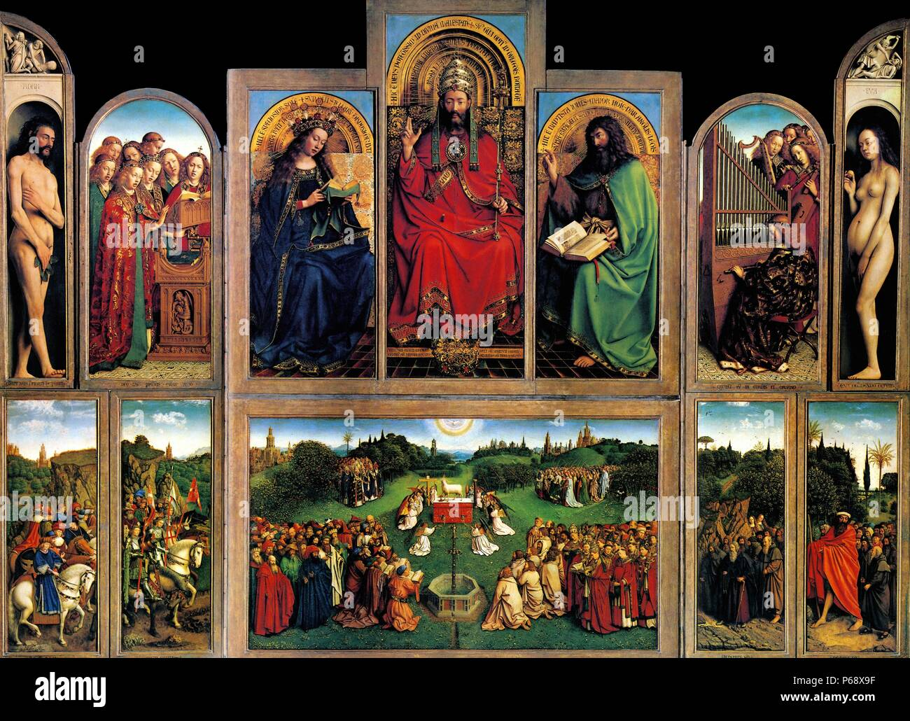 The first flemish panel painting of last supper was created by
