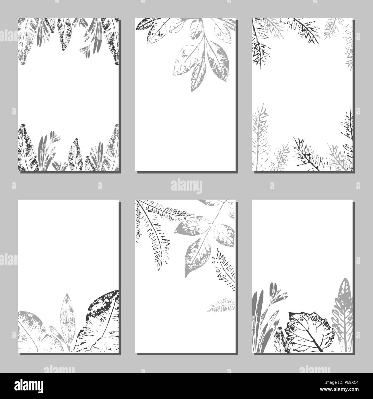 Collection of vector template label, visit cards, square greeting ...