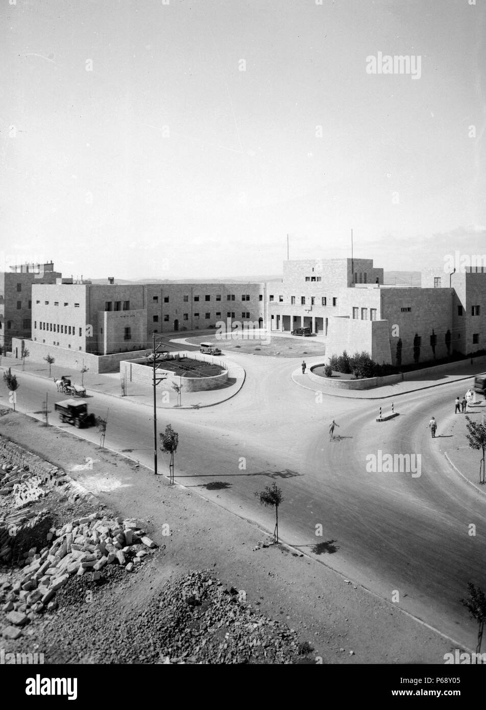 Photograph of the Headquarters of the Zionist Executive on King George Ave, Jerusalem; Israel. Dated 1945 - Stock Image