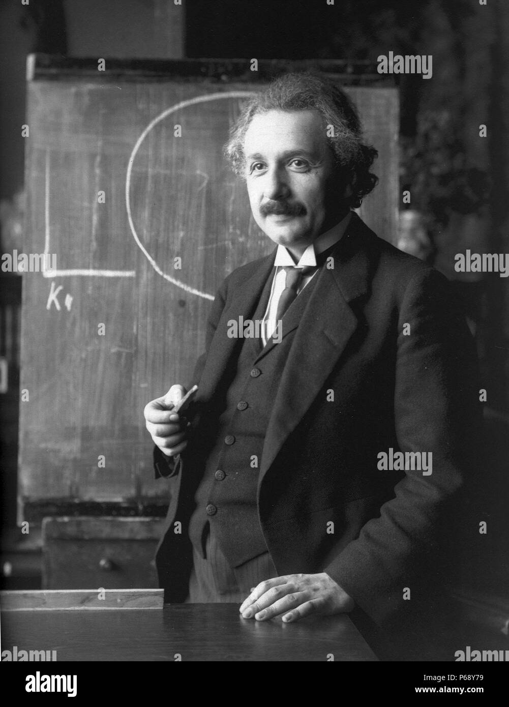 Photograph of Albert Einstein (1879-1955) German-born theoretical physicist and philosopher of science. Dated 1921 Stock Photo