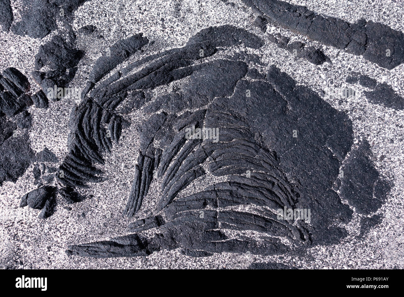 Lava with sand detail - Stock Image