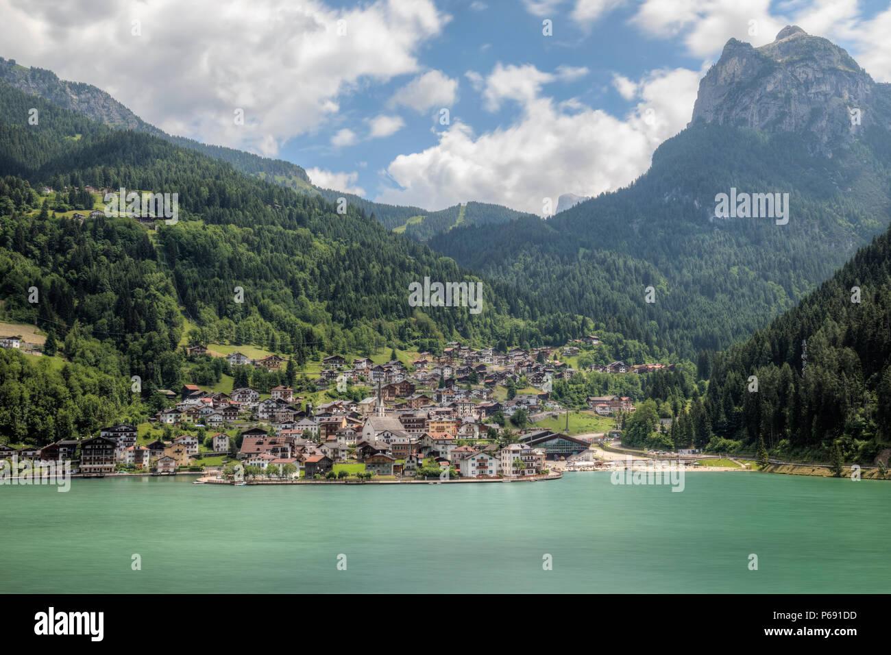 Alleghe, Belluno, Dolomites, Veneto, Italy, Europe - Stock Image
