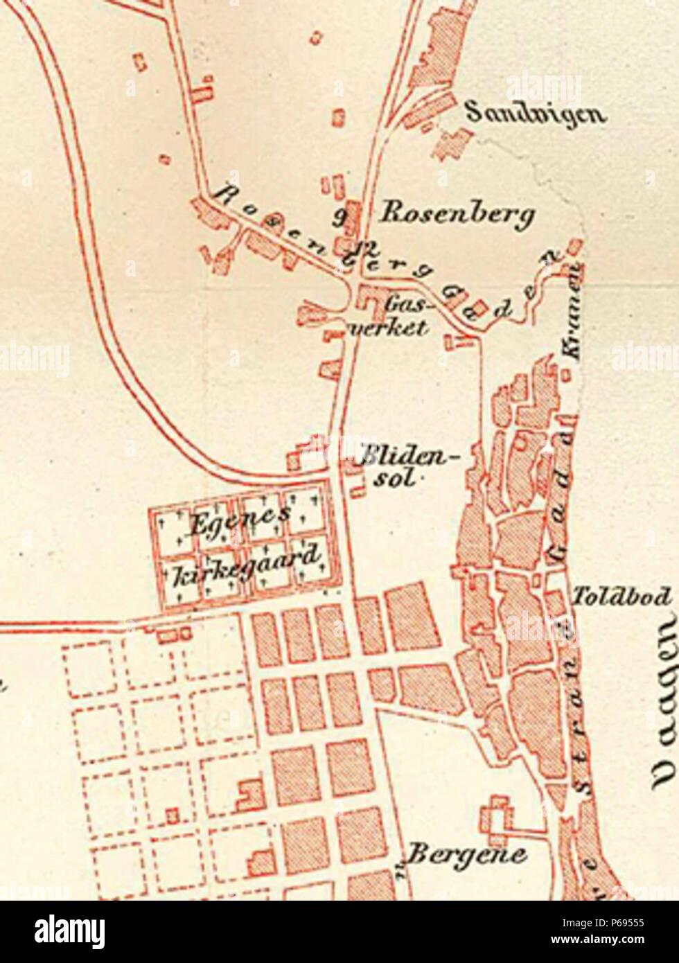 1889 Stavanger Kart Egenes Stock Photo 210413985 Alamy