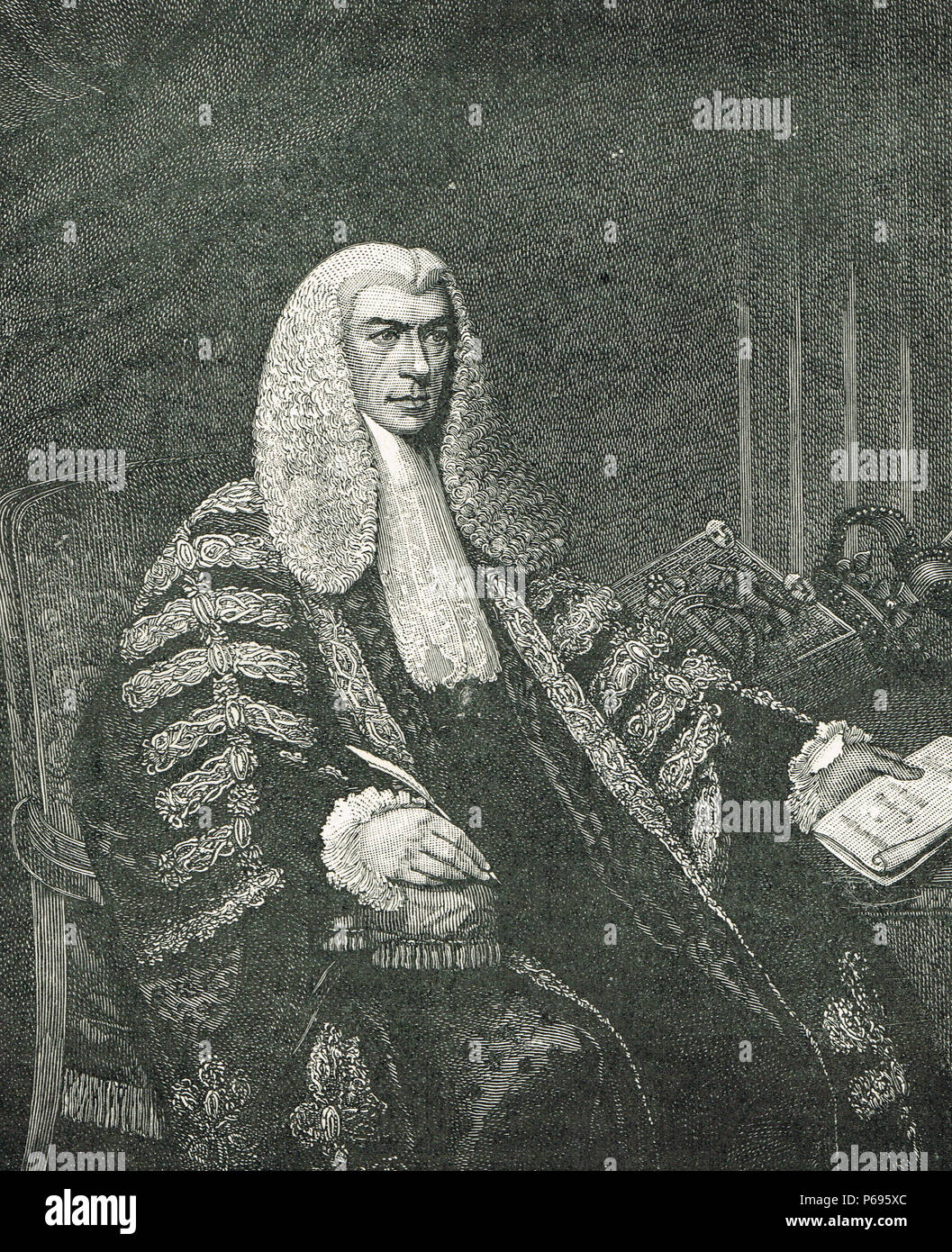 Henry Peter Brougham, 1st Baron Brougham and Vaux, British statesman, Lord Chancellor of Great Britain - Stock Image