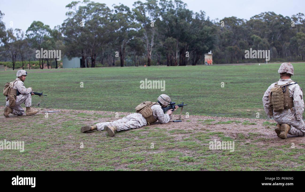 49e05f65c573 Marines with the Marine Corps Shooting Team fire rounds down range during  the Australian Army Skill