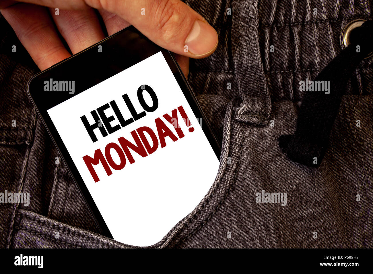 Words Good Morning Monday Black Stock Photos Words Good Morning