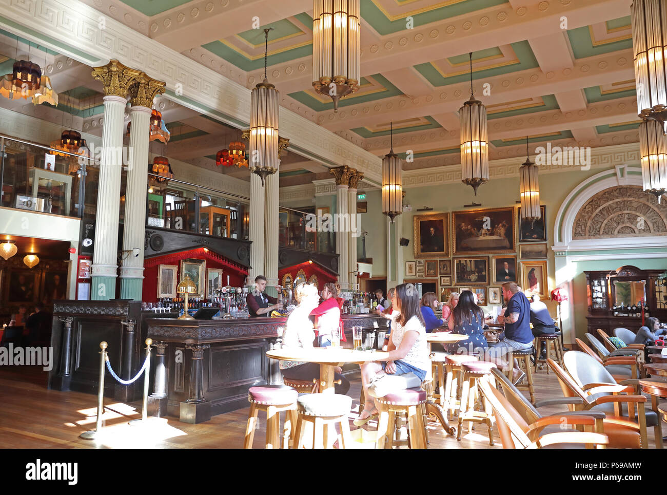 Birmingham Cosy Club on Bennetts Hill,in the historic Midland Bank building, in the business district, in the West Midlands, UK - Stock Image