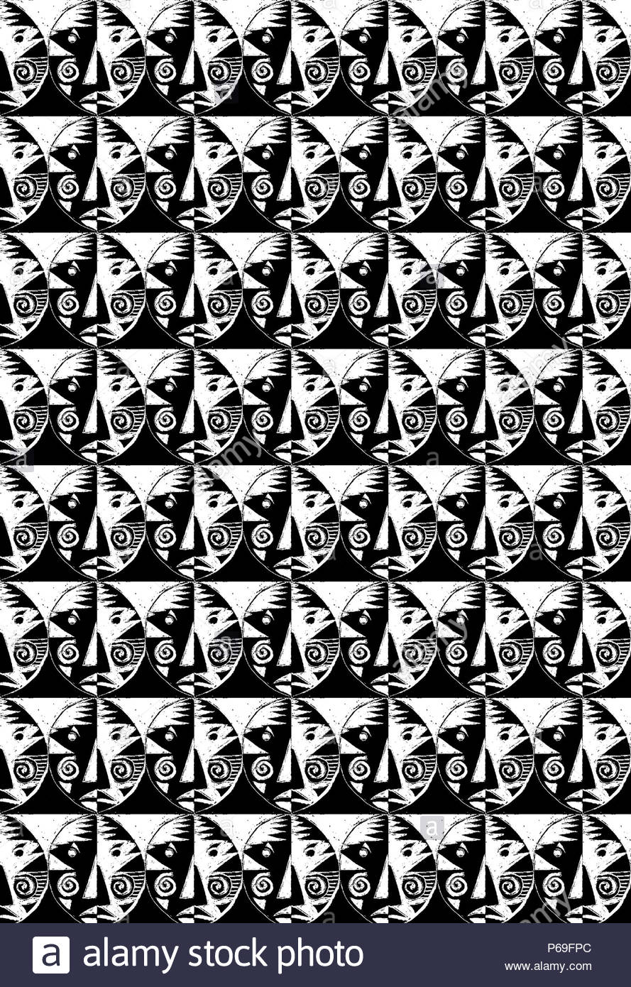 African pattern stock image