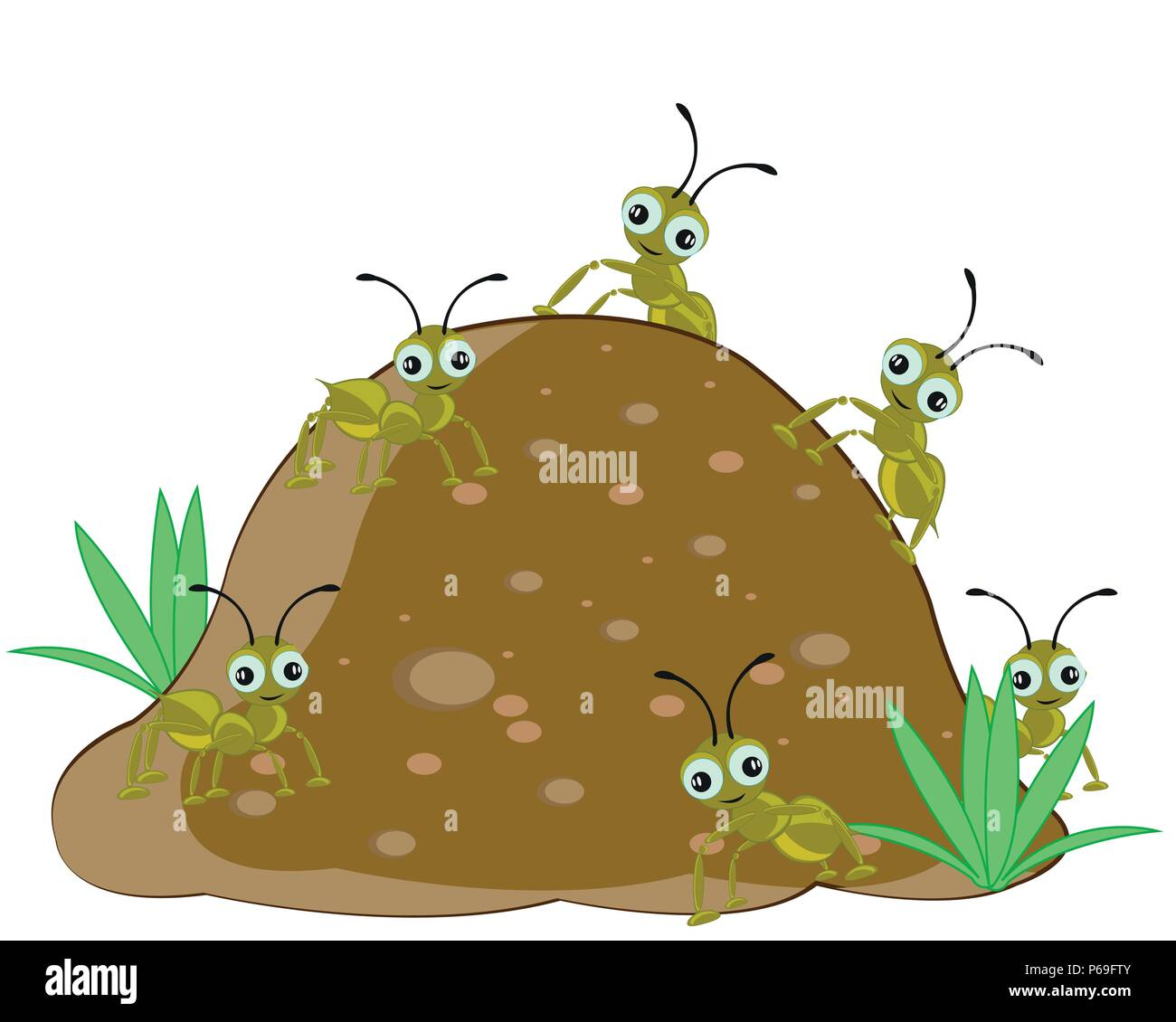 Anthill with ant - Stock Image
