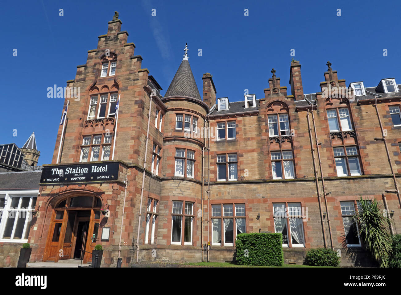 Station Hotel, 1 Leonard St, Perth, Scotland, UK,  PH2 8HE Stock Photo
