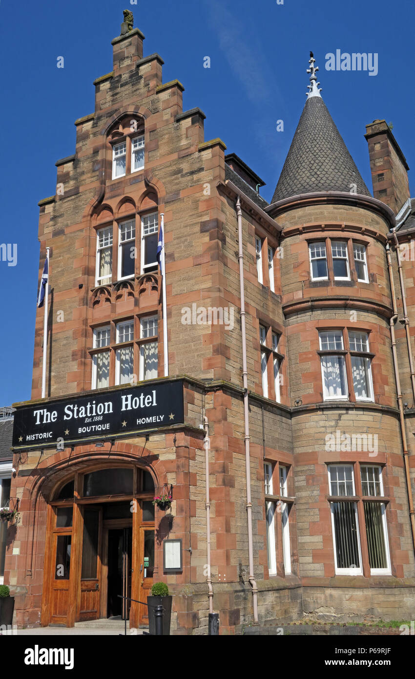 Station Hotel, 1 Leonard St, Perth, Scotland, UK,  PH2 8HE - Stock Image
