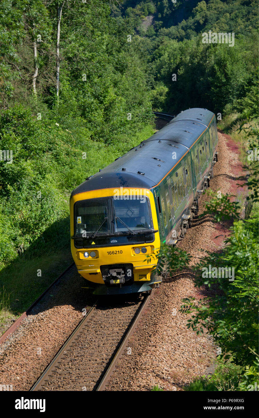 Great Western Railway branch line from Temple Meads (Bristol) station to Severn Beach, on the Severn Beach Line,  passing through the Avon Gorge. Stock Photo
