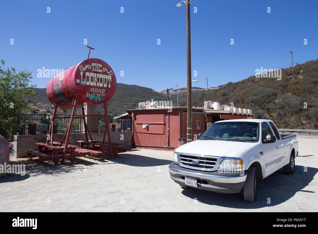 Lookout Roadhouse  Ortega Hwy  Lake Elsinore California USA - Stock Image
