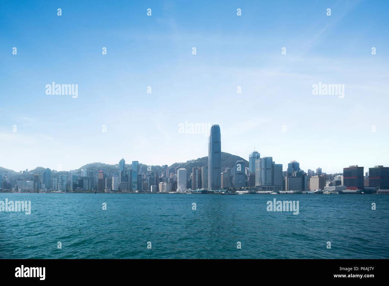 HongKong Victoria Harbor - Stock Image