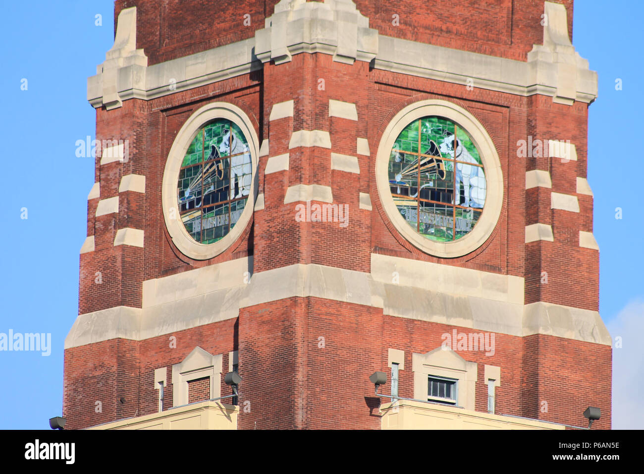 The Nipper building, former Camden New Jersey  home of building 17 of the RCA Victor Company. - Stock Image