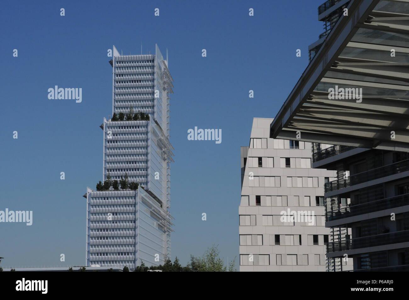 Paris new court tower Stock Photo