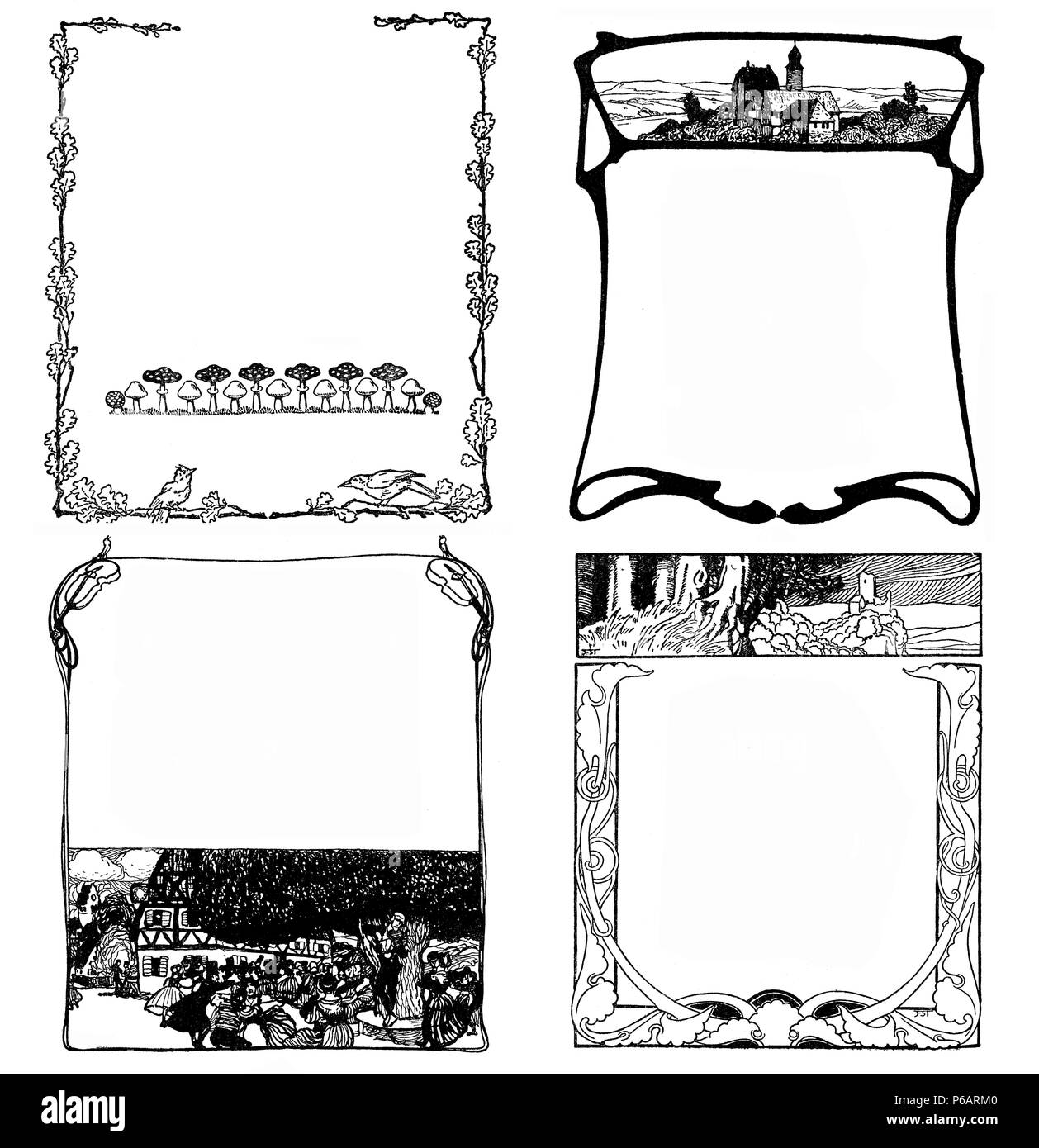 Vector Set Of Vintage Elements For Design Frames Stock Photos ...