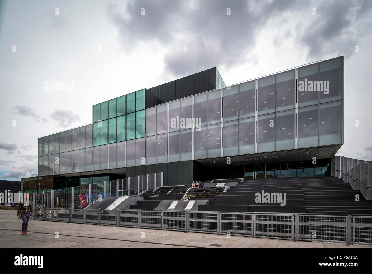 Copenhagen, Denmark - June 21, 2018. BLOX is a massive building housing a range of creative and cultural institutions on Copenhagen's harbour front. (Photo credit: Gonzales Photo - Kim M. Leland). - Stock Image