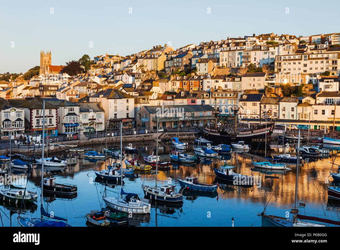 England, Devon, Brixham, Brixham Harbour Stock Photo