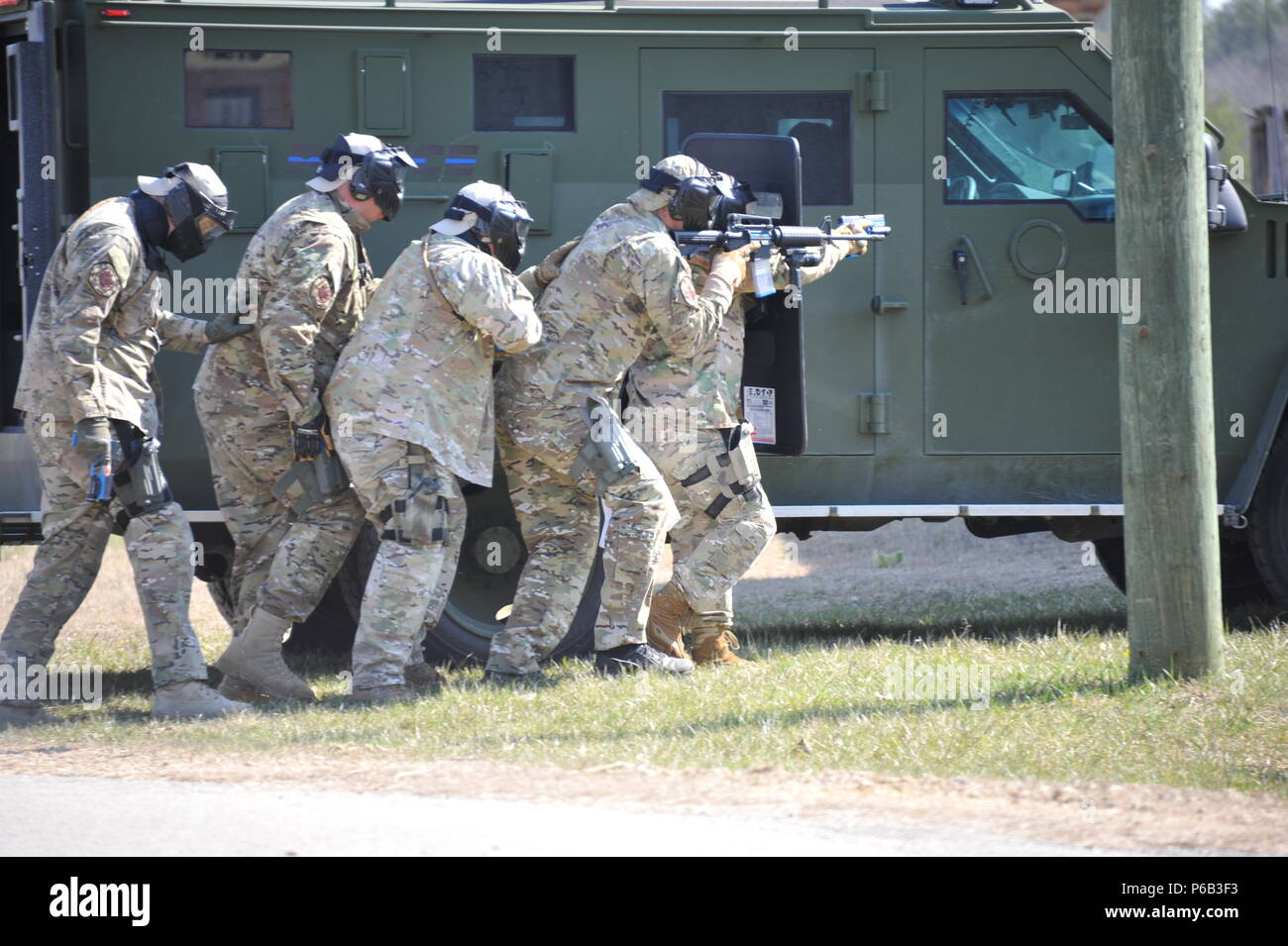 Members of the Rock County Sheriff's tactical team practice urban
